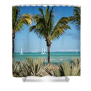 White Sails. Mauritius Shower Curtain by Jenny Rainbow