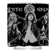 Whitesnake No.01 Shower Curtain by Caio Caldas
