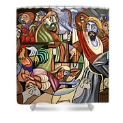 Who Touched Me Shower Curtain by Anthony Falbo