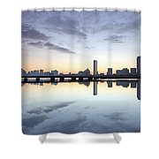 Why So Quiet Boston Shower Curtain by Juergen Roth