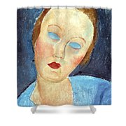 Wife Of The Painter Survage Shower Curtain by Amedeo Modigliani