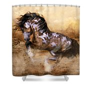 Wild And The Free Shower Curtain by Shanina Conway