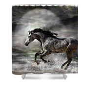 Wild As The Sea Shower Curtain by Carol Cavalaris
