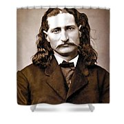WILD BILL HICKOK PAINTERLY Shower Curtain by Daniel Hagerman