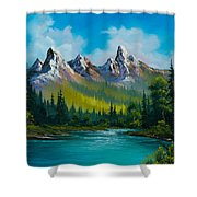 Wild Country  Shower Curtain by C Steele