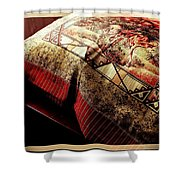 Wild Mustangs On A Quilt Shower Curtain by Barbara Griffin