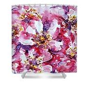 Wild Rose Shower Curtain by Zaira Dzhaubaeva