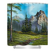 Wilderness Trail Shower Curtain by C Steele