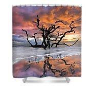 Wildfire Shower Curtain by Debra and Dave Vanderlaan