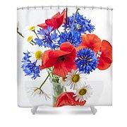 Wildflower Bouquet Shower Curtain by Elena Elisseeva