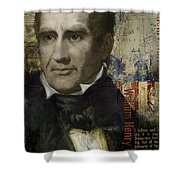 William Henry Harrison Shower Curtain by Corporate Art Task Force