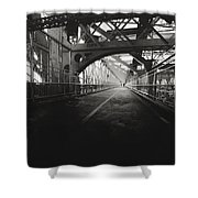 Williamsburg Bridge - New York City Shower Curtain by Vivienne Gucwa