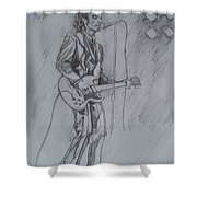 Mink Deville - Steady Drivin' Man Shower Curtain by Sean Connolly