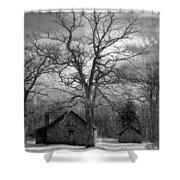 Wilson Lick Ranger Station Shower Curtain by Debra and Dave Vanderlaan