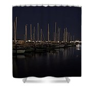 WINCHESTER BAY MARINA - OREGON COAST Shower Curtain by Daniel Hagerman
