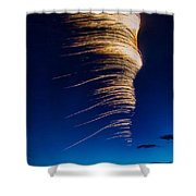 Wind As Light Shower Curtain by Michele Steffey