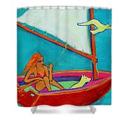 Wind Beneath My Wings I Shower Curtain by Xueling Zou