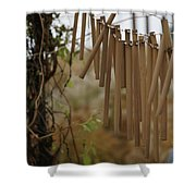 Wind Song - 3 Shower Curtain by Linda Knorr Shafer