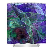 Wind Through The Lace Shower Curtain by Andee Design
