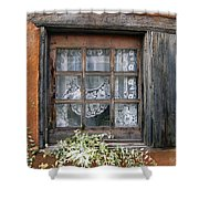 Window At Old Santa Fe Shower Curtain by Kurt Van Wagner
