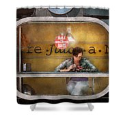 Window - Hoboken Nj - Hale And Hearty Soups  Shower Curtain by Mike Savad