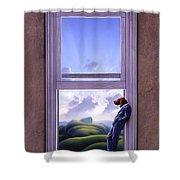 Window Of Dreams Shower Curtain by Jerry LoFaro