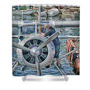 Windshield Wiper Shower Curtain by Trever Miller