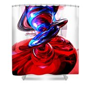Windstorm Abstract Shower Curtain by Alexander Butler