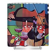 Wine And Roses Shower Curtain by Anthony Falbo