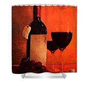 Wine Bottle  Shower Curtain by Patricia Awapara