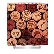 Wine corks Shower Curtain by John Stuart Webbstock