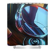 Wine Reflections Shower Curtain by Donna Tuten