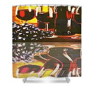Wine Reflections Shower Curtain by PainterArtist FIN