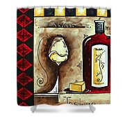 Wine Tasting Original Madart Painting Shower Curtain by Megan Duncanson