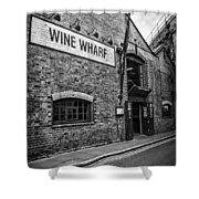 Wine Warehouse Shower Curtain by Heather Applegate