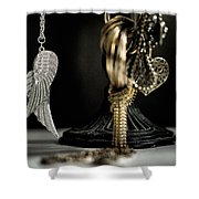 Wings Of Desire I Shower Curtain by Marco Oliveira