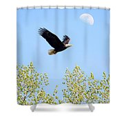 Wings Of The Moon Shower Curtain by Lori Tordsen