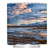 Winter Afternoon Shower Curtain by Cat Connor