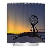 Winter Beyond The Arctic Circle Shower Curtain by Ulrich Schade