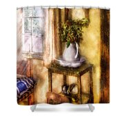 Winter - Christmas - Early Christmas Morning Shower Curtain by Mike Savad
