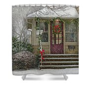 Winter - Dreaming Of A White Christmas Shower Curtain by Mike Savad