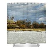 Winter Farm Shower Curtain by Steve McKinzie