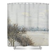 Winter In The Ouse Valley Shower Curtain by William Fraser Garden