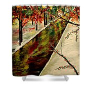 Winter In the Park  Shower Curtain by Mark Moore