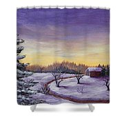 Winter In Vermont Shower Curtain by Anastasiya Malakhova