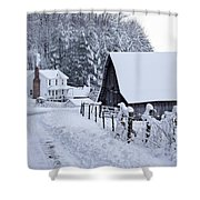 Winter In Virginia Shower Curtain by Benanne Stiens