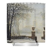 Winter Landscape Shower Curtain by Alessandro Guardassoni