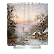 Winter Landscape Shower Curtain by Charles Leaver