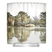 Winter Reflection Landscape Shower Curtain by Julie Palencia