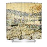 Winter Stream Shower Curtain by Ernest Lawson